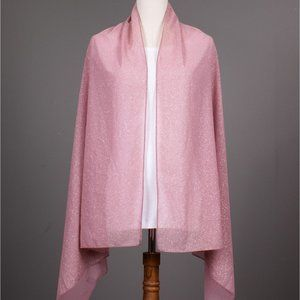 Sparkle Solid Colour Fashion Scarf - Pink